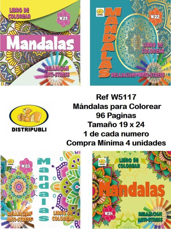 Mándalas  96 Paginas 19 X 24