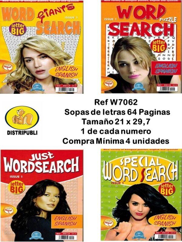 Sopas de Letras Español e Ingles de 64 Paginas